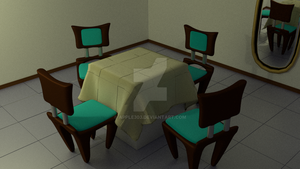 Default Cube Table Set 2 by Apple303