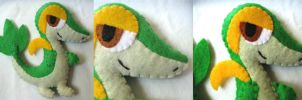 Snivy Plush Commission by P-isfor-Plushes
