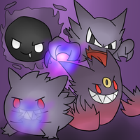 The original ghost pokemon family by thegamingdrawer