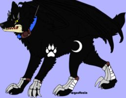My Evil Wolf Oc Needs A Name by boeingboeing2