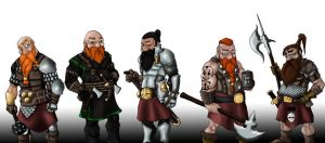 Dwarven line up by SonofReorx