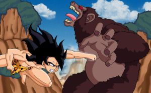 Tarzan VS Kerchak by Glee-chan