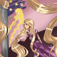Rapunzel - Tangled by milkie-nommi