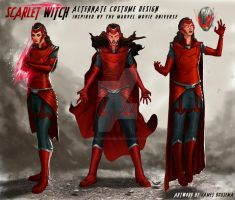 Scarlet Witch Concept Art/Alternate Costume Design by JamesBousema