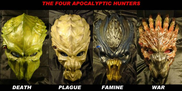 The Four Apocalyptic Hunters by The-Predator-Club
