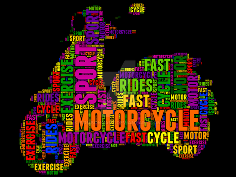 Motorcycle 24 Typography by somsongart