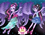 Equestria Girls Midnight Sparkle Dress Up by heglys