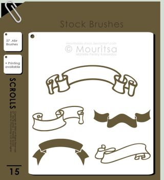 Brush Pack - Scrolls by MouritsaDA-Stock