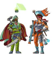 Videogame Warriors (Female and Male) by Wonderwig