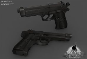 Beretta M-9 by senor-freebie