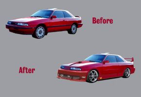 88 Mazda MX-6 mod by shark3000