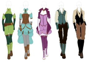 Outfit Design: Steampunk by Himwath