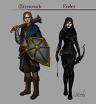 Marrovick and Ender by emengel