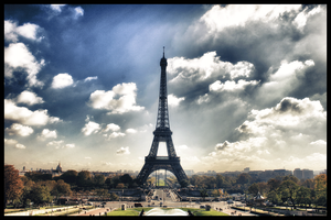 Eiffel Tower from Trocadero - Edit by niewiel