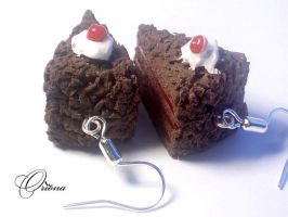 Chocolate cake with cherries 1 by OrionaJewelry