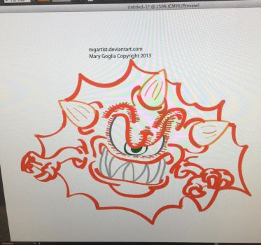 Wip Monster Illustrator Drawing by MGartist