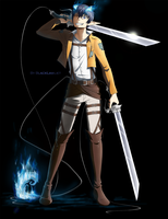 Crossover. AnE. SnK. Okumura Rin. by BlackLawliet