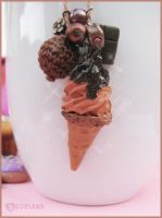 Commission: Chocolate Ice Cream necklace by decoland