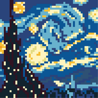 A Starry Night - 8 Bit by Baron-Kettell
