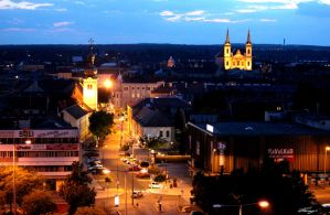 Szombathely at night by NeverOrEverAfter