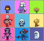 Undertale 3x3 by Neoriceisgood