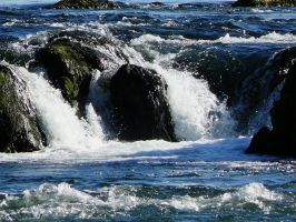 Boulders in the river Rhine by lost-in-maze