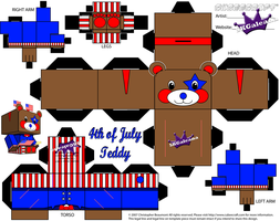 4th of July Teddy Bear with headband boppers part1 by SKGaleana