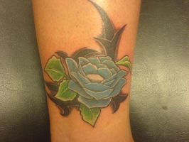 Flower and tribal piece color by Shipht