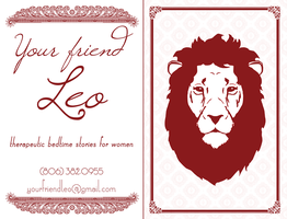 Leo Business Card Proof, May 2012 by wendystolyarov