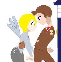 doctor whooves and (human) derpy by JadeTheDayDreamer