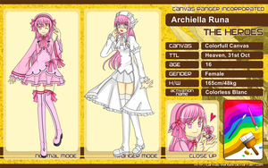 CR - Character Sheet Archiella Runa by Piyuka