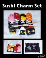 Sushi Charm Set by aruachan