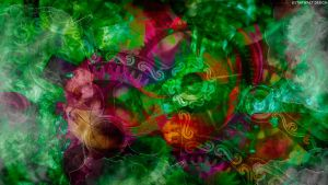 Viral Green with Pink Life by StarwaltDesign