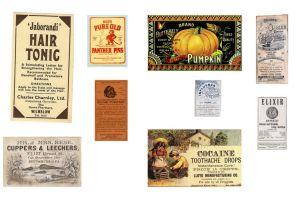 strange vintage labels for halloween by Pureblackmagik