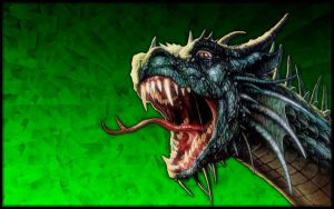 Green Dragon Wallpaper by brianmccumber