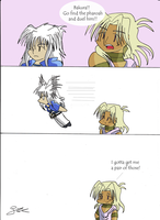 Bakura's hair can make him...fly...? by BetterThanCrumpets