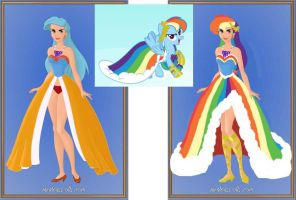 Rainbow Dash Grand Galloping Gala Dress by craZ4knux