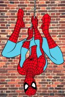 Spider-Man hangs by stick-man-11