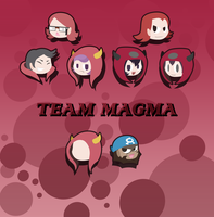 Pokemon RSE / ORAS - Team Magma Heads by ShittyChan