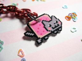 Nyan Cat necklace number 2 by JennyLovesKawaii