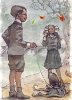 Pet Walkers by vesuvia