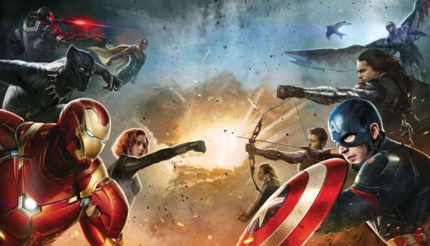 CA: Civil War Team Iron Man vs Team Cap concept by Artlover67