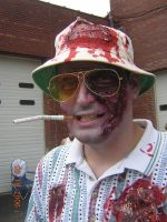 Hunter S Thompson Zombie by MalevolentNate