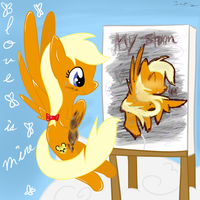 Funnyfeather Painting Out Her Love by catz537