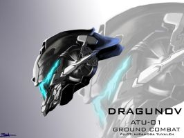 Mecha Head Concept: Dragunov by bcetin