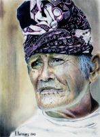 ETHNIC:Old indonesian with blangkon by HendrikHermans
