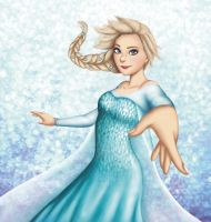 Elsa - The Snow Queen by Evangeline-Art