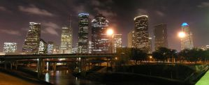 Houston Night Skyline by UED77
