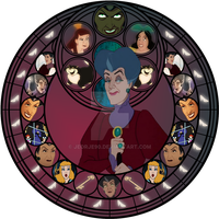 Lady Tremaine Stained Glass by jeorje90