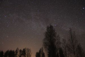 Milky way and a comet 2 by Antza2